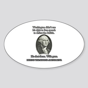 Washington Used Guns Sticker (Oval)